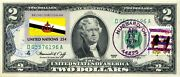 2 Dollars 1976 First Day Stamp Cancel Flag Of Un From Brunei Value 150