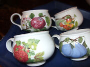 Portmeirion Pomona Set Of 4 Rare Motifs Romantic Cups Only Exc Cond Buy It Now
