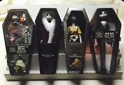 Nightmare Before Christmas Jack-sandy Claws-sally And Gang -coffin Figure Lot- X4