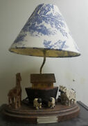 Vintage Folk Art Noahs Ark Lamp And Shade By Barry Grosscup Millwood Toy Co Anb