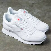 Reebok Classic Leather 9771 White Grey Red Mens Shoes Fashion Sneakers Sizes