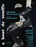 A Bout De Souffle Breathless - Original French Poster - Very Rare