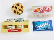 6 Vintage Fridge Magnets Food Cherry Pie Certs Campbells Cans Goobers Candy Food