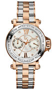 Guess Gc X74107l1s Gc-femme Watch Bicolour Silver/rose Gold With 44 Diamonds