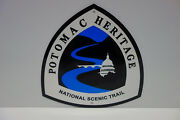 Potomac Heritage National Scenic Trail Baked Enamel Sign. Mint Nos. Heavy.