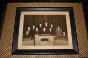 Antique Roselle Park New Jersey Photograph 1930 Mayor And Council Union County Nj