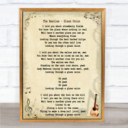 The Beatles Glass Onion Song Lyric Quote Print