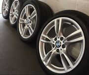 18andrdquo Bmw Genuine Staggered F30 Shape 3 Series Wheels And Run Flat Tyres Set Of 4