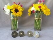 Beautiful Set Of 4 Vintage Drawer Pulls Knobs Gold And Black Lucite W/ Brass