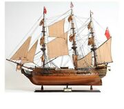 Hms Surprise Ship Model Sculpture Hand Crafted Detailed Replica W/cannons