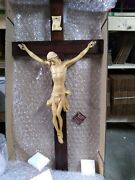 42 Classic Hand Carved Wooden Crucifix - For Home, Chapel, Church, Institution