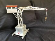 Antique Tin Toy Large French Harbour Crane Is Working