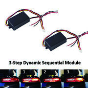 2x Universal 3-step Sequential Chase Flash Module Boxes For Signal Light Dynamic