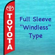 Toyota Red Windless Feather Flag Auto Dealer Used Cars Advertising Banner Sign