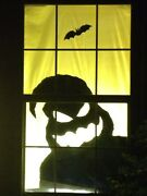 Halloween Window Silhouette Scary Monster 60andrdquo X 42andrdquo Holiday Decorations