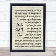 Youand039re Still The One Shania Twain Song Lyric Vintage Script Quote Print