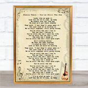 Shania Twain - Youand039re Still The One Song Lyric Guitar Quote Print