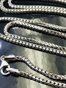 25.0 Grams 14k Solid White Gold Franco Chain Necklace 26 Inches H3jewels