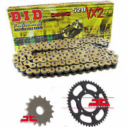 Hyosung Gt250 R Comet Fi 2010 Did Gold Vx2 X-ring Chain And Sprocket Kit