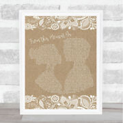Shania Twain From This Moment On Burlap And Lace Song Lyric Quote Print