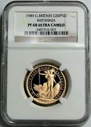 1989 Gold Great Britain 338 Minted 50 Pounds Ngc Proof 68 Ultra Cameo