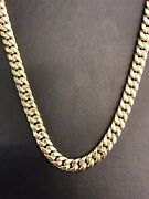 10k Yellow Gold Hollow 8mm Miami Cuban Chain Necklace 30