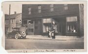 Nice Old Photo - Gas Station Pump On Street Store, Agency Etc Manchester Ny 1924
