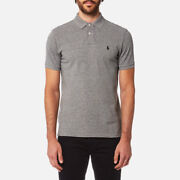 Menand039s Polo Shirt Custom Fit Canterbury Heather Rrp Andpound75