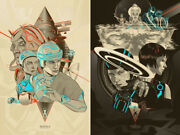 Tron / Tron Legacy By Martin Ansin - Regular - Set Of 2 Prints - Sold Out Mondo