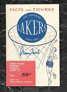 1960 1st Year Nba La Lakers Press/media Guide Nm/mt Signed Rookie Rc Jerry West
