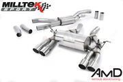 Milltek Bmw F82 M4 Coupe Cat Back Exhaust Race System Polished Tips