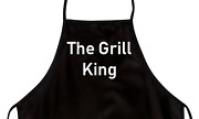 Funny Apron For Dad The Grill King Novelty Aprons For Men
