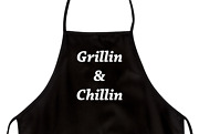 Funny Apron For Dad Grillin And Chillin Novelty Aprons For Men