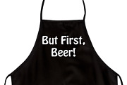 Funny Apron For Dad But First, Beer Novelty Aprons For Men