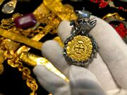 Colombia 1622 Pure Gold Coin W Ship And Octopus Atocha Pendant Jewelry Necklace