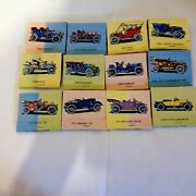 Lot Of 12 Collectible Vintage Car Match Books By Ohio Match Co Dated 1977