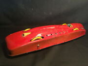 Vtg 21 Tin Litho 'red Streak' Race Car By 'tom' Made In Usa