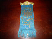 Gettysburg 1893 New York Day 30th Anniversary Badge W/makers Tag
