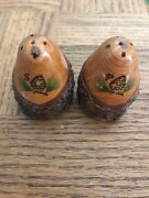 Antique Salt And Pepper Shakers-very Rare Vintage Collectible-ships N 24 Hours