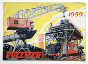 German Model Train Catalog With Accessories. Vollmer 1959.