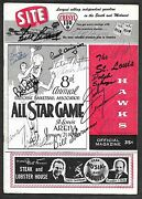 1958 Nba All Star Game Program Bill Russelland039s 1st Signed X15 Cousy++ Psa/dna