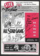 1958 Nba All Star Game Program Bill Russell's 1st Signed X15 Cousy++ Psa/dna