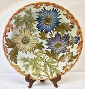 Exceptional Gouda Pzh Holland Charger, Unica Jo Smit Decorated, C. 1930s
