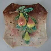 French Majolica Pear Wall Plate