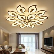 Acrylic Iron Floral Chandelier Modern Led Bulbs Home Ceiling Fixture Decorations