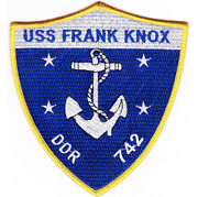 5 Navy Uss Frank Knox Ddr-742 Embroidered Patch