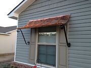6 Ft. Curved Copper Window Or Door Awning With Decorative Scrolls