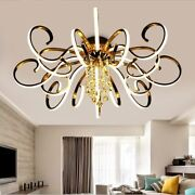 Chandelier Polished Chrome Iron Elegant Modern Home Tree Ceiling Fixtures Decors