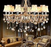 Modern Ceiling Fixture Lighting Elegant Crystal Lampshade Style Home Hotel Decor
