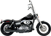 Bassani Black 2-1 Road Rage 2 B1 Power Exhaust For 91-17 Harley Dyna Fxdb Fxd